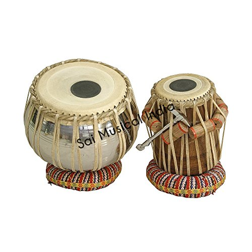 Queen Brass Tabla Set, Stainless Steel Bayan by Queen Brass