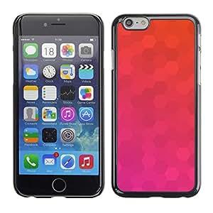 Planetar® ( Polígono Rosa Naranja Modelo púrpura ) iPhone 6 Fundas Cover Cubre Hard Case Cover