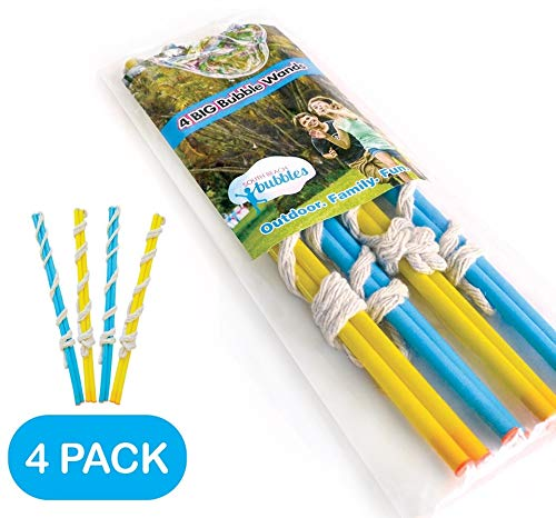 4 Big Bubble Wands: Making Giant Bubbles. Great Birthday Activity and Party Favor. Giant Bubble Solution Not Included.]()