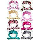 Qandsweet Baby Girl Elastic Hair Hoops Headbands (Design of Hair Band 8 Pack)