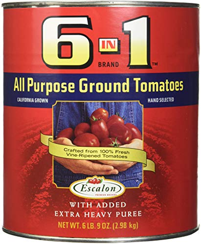 6 in 1 All Purpose Ground Tomatoes, No. 10 Can, (6 Pound 9 Ounces)