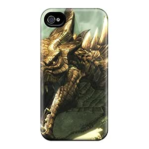 Shockproof/dirt-proof Skyrim Dragon Covers Cases For Iphone(4/4s) Kimberly Kurzendoerfer