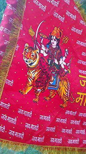JP PRODUCTS Flag 3 Mtr Samriddhi Jhanda Jai MATA Di for Pooja Room & Arti Durga MATA Di Jhanda (51)