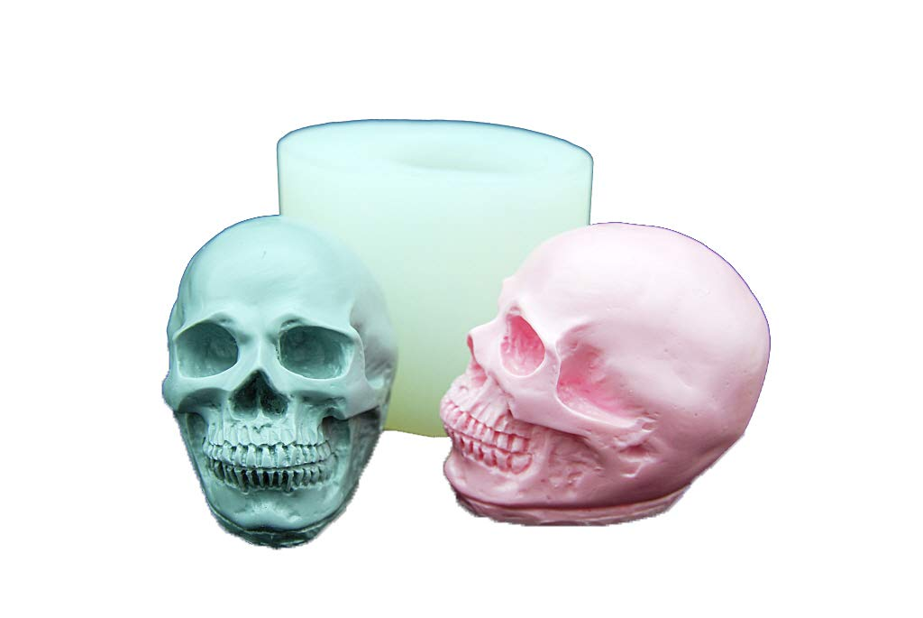 Skull L, Handmade Silicone Mold Mould sugarcraft Candle Clay ice Tray Chocolate soap Making