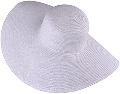 Itopfox Women s Beachwear Sun Hat Striped Straw Hat Floppy Big Brim Hat 773b501b77aa