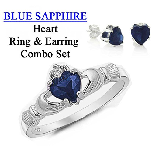 sapphire claddagh ring - 9
