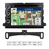 Aimtom Ford F-150 E-150 Expedition Explorer Mustang Sport Trac Lincoln Mercury Indash Car GPS Navigation System Backup Camera Stereo Touchscreen Radio Bluetooth CD DVD Player Copyrighted iGo Primo Map