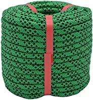 YUZENET Braided Polyester Arborist Rigging Rope Strong Pulling Rope for Climbing Sailing Gardening Swings,Gree