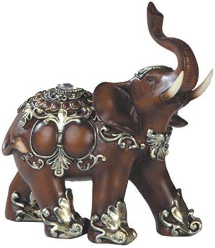 Feng shui bronz color 6 elegant elephant trunk statue - Feng shui elephant placement ...