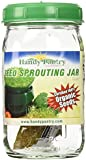One Quart Glass Sprouter Jar w/ Sprouting Strainer Lid: Grow Sprouts: Includes 2 Oz. Organic Sprout Seeds & Sprouting Instructions