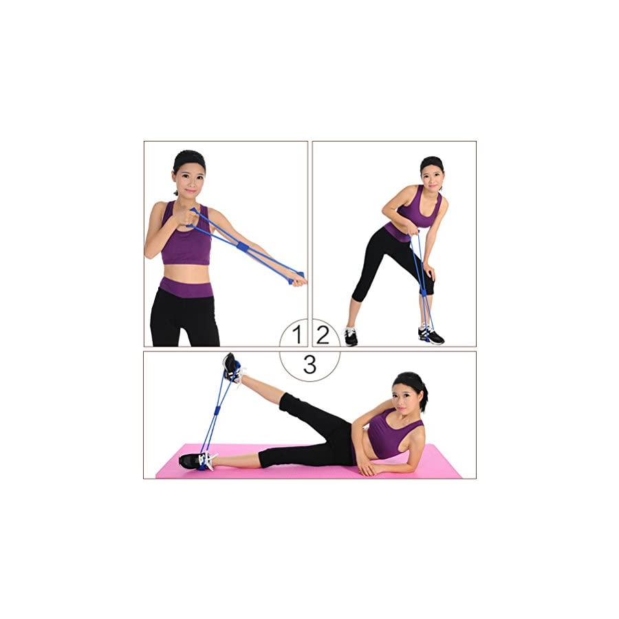 Odowalker Exercise Band Training Resistance Bands Rope Tube Workout Circuit With Fashion Body Building Fitness Equipment Tool For
