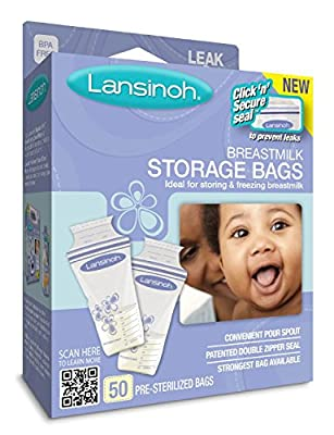 Lansinoh Breastmilk Storage Bags, 25 Count Boxes (3 Pack) Convenient Milk Storage Bags for Breastfeeding from Lansinoh