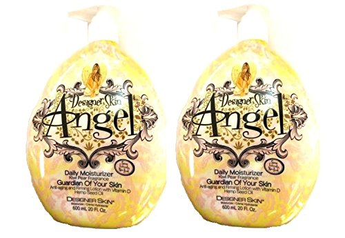 Lot of 2 Daily Moisturizer Angel Moisturizing After Tan Lotion By Designer Skin 20 oz.