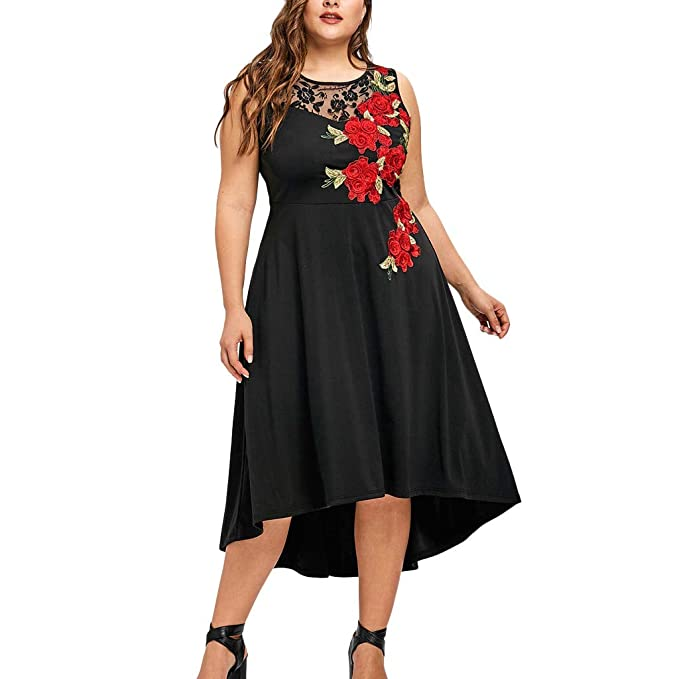 YUTING Vestido Largo Mujer Talla Grande Moda Bolsillo Top ...