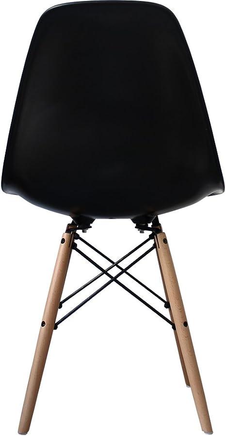 Deco50 Noir Eames Chaise à Manger de Style: