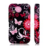 Ecell BLACK BUTTERFLY SILICONE GEL CASE FOR SAMSUNG GALAXY ACE S5830