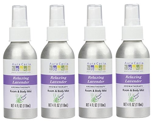 Aura Cacia Lavender Aromatherapy Mist 4 Ounces (Pack of 4) by Aura Cacia