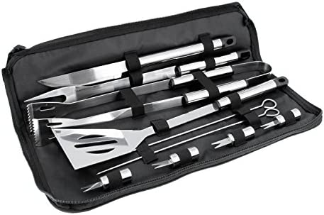 BBQ Masters 11 Piece Professional BBQ Grill Tool Set with Storage Bag