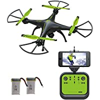 Drone with Camera, SOPOW 126W RC Quadcopter Drone with HD Camera, WiFi FPV Camera Drone, Altitude Hold Drone, Headless Mode Drone, Low Battery Alarm, NEW Design of 2017 - Green