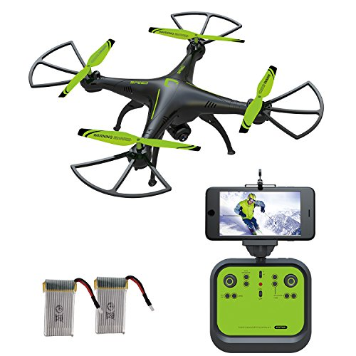 Drone with WiFi FPV Camera, SOPOW LS-126W RC Quadcopter Drone with HD WiFi Camera, Hover/Altitude Hold Feature, 3D Flips, Newest model of 2017 – Green
