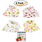 Bandana Baby Bibs For Girls Cute Pretty Princess 100% Cotton Super-Stylish Anti-Smell Anti-Bacterial Apron Quick Dry Avoids Drool Rash with Nickel-Free Snaps, Best for Sensitive Skin Buy Now!