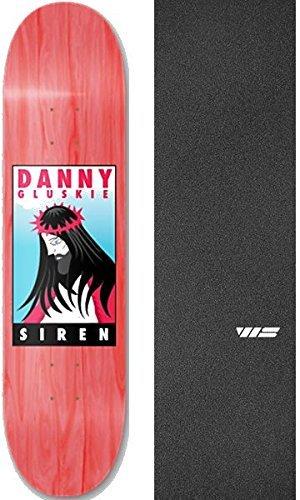 ジャーナルカップ細胞Siren スケートボード ダニー Gluskie King スケートボードデッキ 8インチ x 32インチ Jessup WSダイカットグリップテープ 2点セット