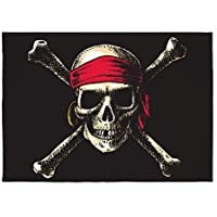 5 x 7 Area Rug Pirate Skull Crossbones