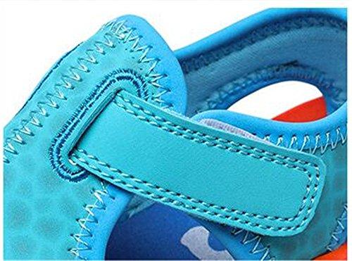 AILEESE - Sandalias con cuña para niño azul celeste
