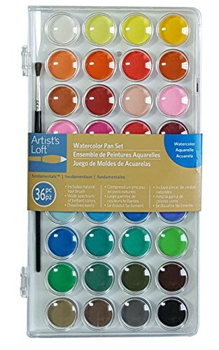 Watercolor Pan Set, 36 Colors