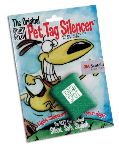 Quiet Spot Pet Tag Silencer, Green