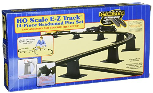 Bachmann Trains 14 PC. E-Z TRACK Graduated Pier Set ()