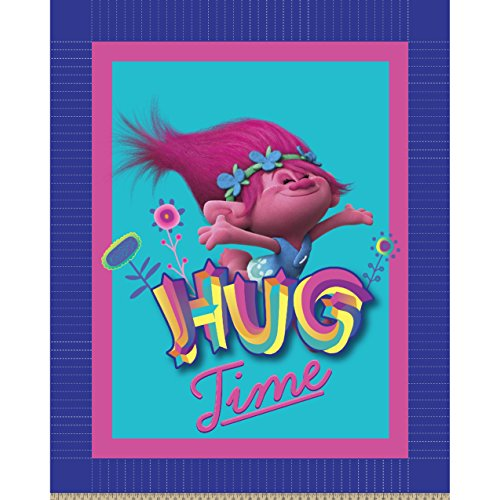 Dreamworks - Trolls 63869-C47C831 Trolls Hug Time No Sew Fleece Throw Kit, Pink by Dreamworks - Trolls