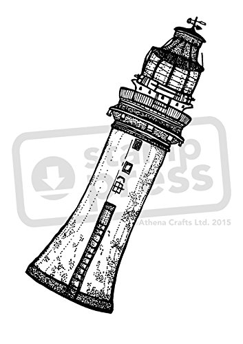 A7 'Coastal Lighthouse Building' Unmounted Rubber Stamp (SP00006745)