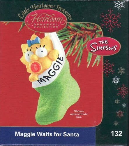 Carlton The Simpsons Maggie Waits For Santa Christmas Ornament