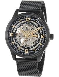 Akribos XXIV Men's AKR446BK Bravura Saturnos Elite Automatic Black Mesh Watch