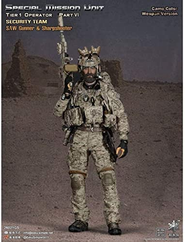 LRWTY Ejército Militar Juguetes 1/6 Figura de acción de la Escala, 12 Pulgadas Saw Gunner y Flexible Tirador Masculino Soldado Modelo Colección Gifts: Amazon.es: Juguetes y juegos