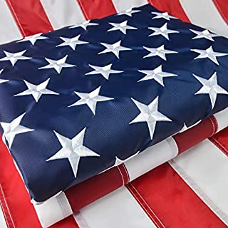 American Flag 3x5 Ft Heavy Duty, American Flag 3x5 Outdoor, US Flag with Vivid Color, Sewn Stripes, Brass Grommets, Embroidered Stars