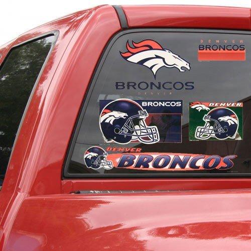 (NFL Denver Broncos 11'' x 17'' Window Clings Sheet)