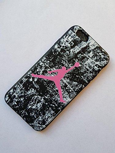 NEW AIR JORDAN LOGO JUMP SOFT PC CASE FOR APPLE IPHONE 5/5S SHADE PINK WHITE BLACK