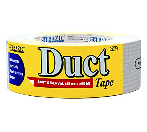 """BAZIC 1.88"""" X 60 Yards Silver Duct Tape (Case of 12)"""