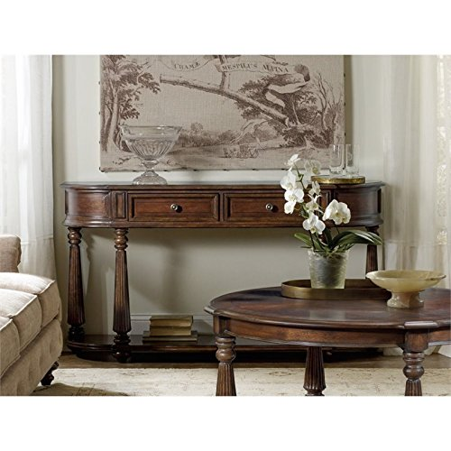 Hooker Furniture Leesburg Demilune Hall Console Table in Mahogany