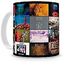 Caneca Banda Rush Albums