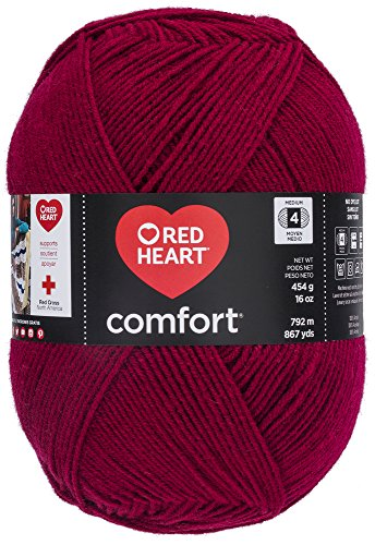 - Red Heart Comfort Yarn, Wine