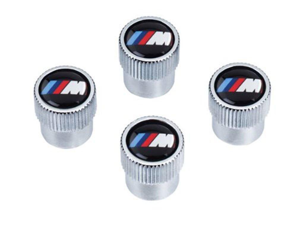 Set of 4 BMW Genuine Factory OEM 36110421543 Valve Stem Caps M Logo