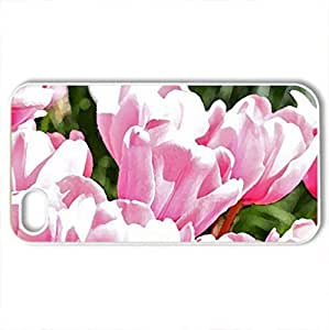 Spring Forever - Case Cover for iPhone 4 and 4s (Flowers Series, Watercolor style, White)
