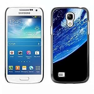 TECHCASE**Cubierta de la caja de protección la piel dura para el ** Samsung Galaxy S4 Mini i9190 MINI VERSION! ** Blue Planet Earth Closeup View Space Atmosphere