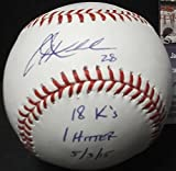Corey Kluber Cleveland Indians Autographed Signed Official Major League Baseball 18 K's 1 Hitter 5-3-15 COA