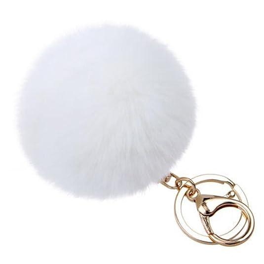 Amazon.com: SUPPION Llavero de bola de pompón de metal ...