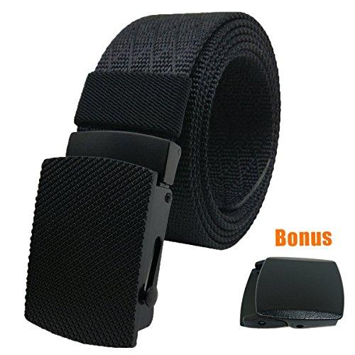 Heavy Duty Riggers Belt (Hoanan Nylon Web Tactical Belt, Military Webbing Heavy duty Riggers Belt for Men (Waist:28