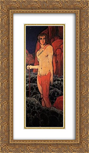 Vsevolod Maksymovych 2X Matted 14x24 Gold Ornate Framed Art Print 'Triton'